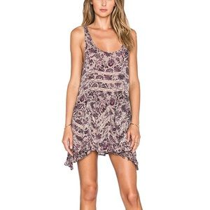 Free People Floral Print Swing Trapeze